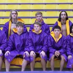 Marion Giant Boys Swim Team competing in Sectional