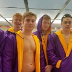 Marion Giant Boys Swim Team at the Fishers Sectional Final