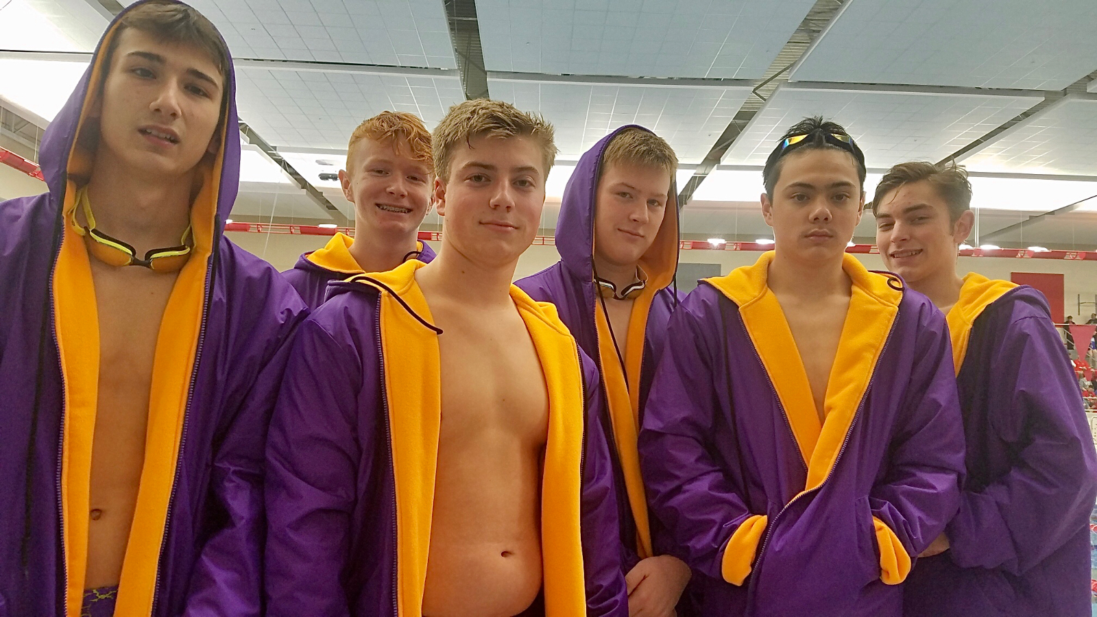 The Marion Giant Boys Swim Team Compete at the Sectional