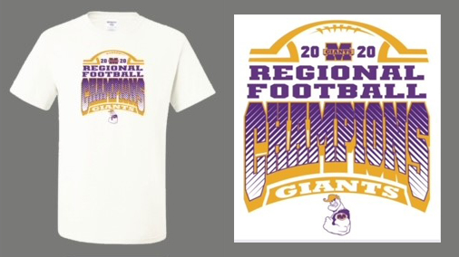 Order your Giants Football Regional Champs shirt now!