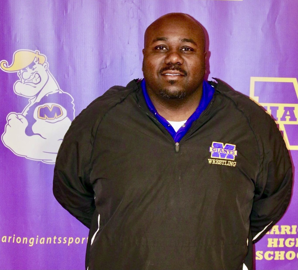 Marion Giants Wrestling Coach Lonnie Johnson named NCC Coach of the Year