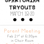 Drill Team Tryouts—Mandatory Parent Meeting