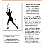 2019 Girls Tennis Tryouts–Player/Parent Meeting