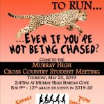 2019 Cross Country Student Meeting