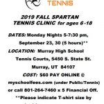 Spartan Tennis Fall Clinic