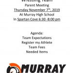 MHS Wrestling Parent Meeting