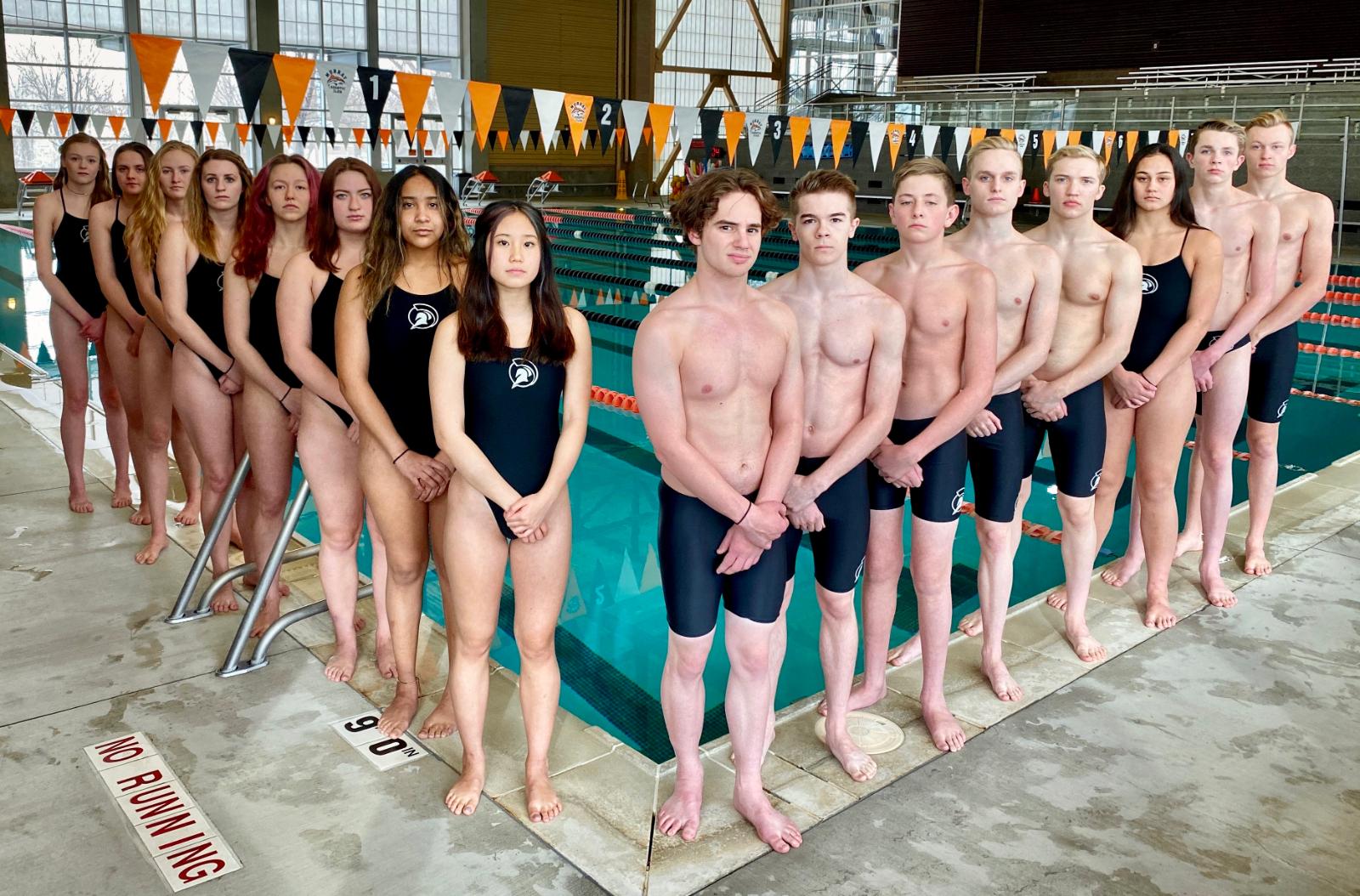 2019-2020 MHS State Swim Team