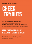 Murray High School Cheer Tryouts