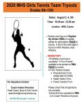MHS Girls Tennis Tryouts 2020