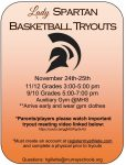 Girls Basketball Tryouts– Nov. 24-25