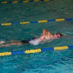 Noel Nowacki Breaks School Swimming Record