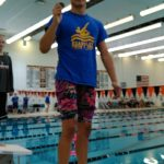 Noel Nowacki is two-time Flint Metro League Champion; breaks meet and school record