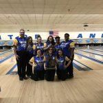 Girls Varsity Bowling finishes 1st place at Regionals- Team @ Monitor Lanes
