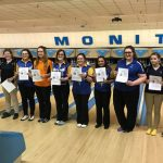 Girls Varsity Bowling finishes 1st place at Regionals- Singles @ Monitor Lanes
