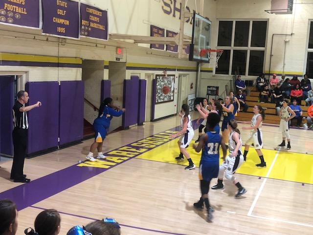 Girls Varsity Basketball beats Ware Shoals 46 – 37