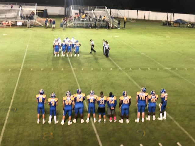 Varsity Football Wins Big on Senior Night