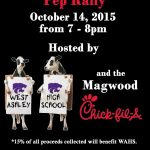 West Ashley invites Community to Pep-Rally at Chick-fil-a
