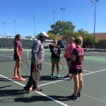 Girls Tennis players at Charleston Tennis Center 40th Anniversary