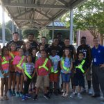 West Ashley Cheerleaders and Football Players visit Drayton Hall