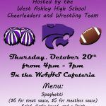 Cheerleading and Wrestling hosting Spaghetti Dinner