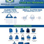 Clear Bag Policy For Tonight's 3rd Round Game At Berkeley