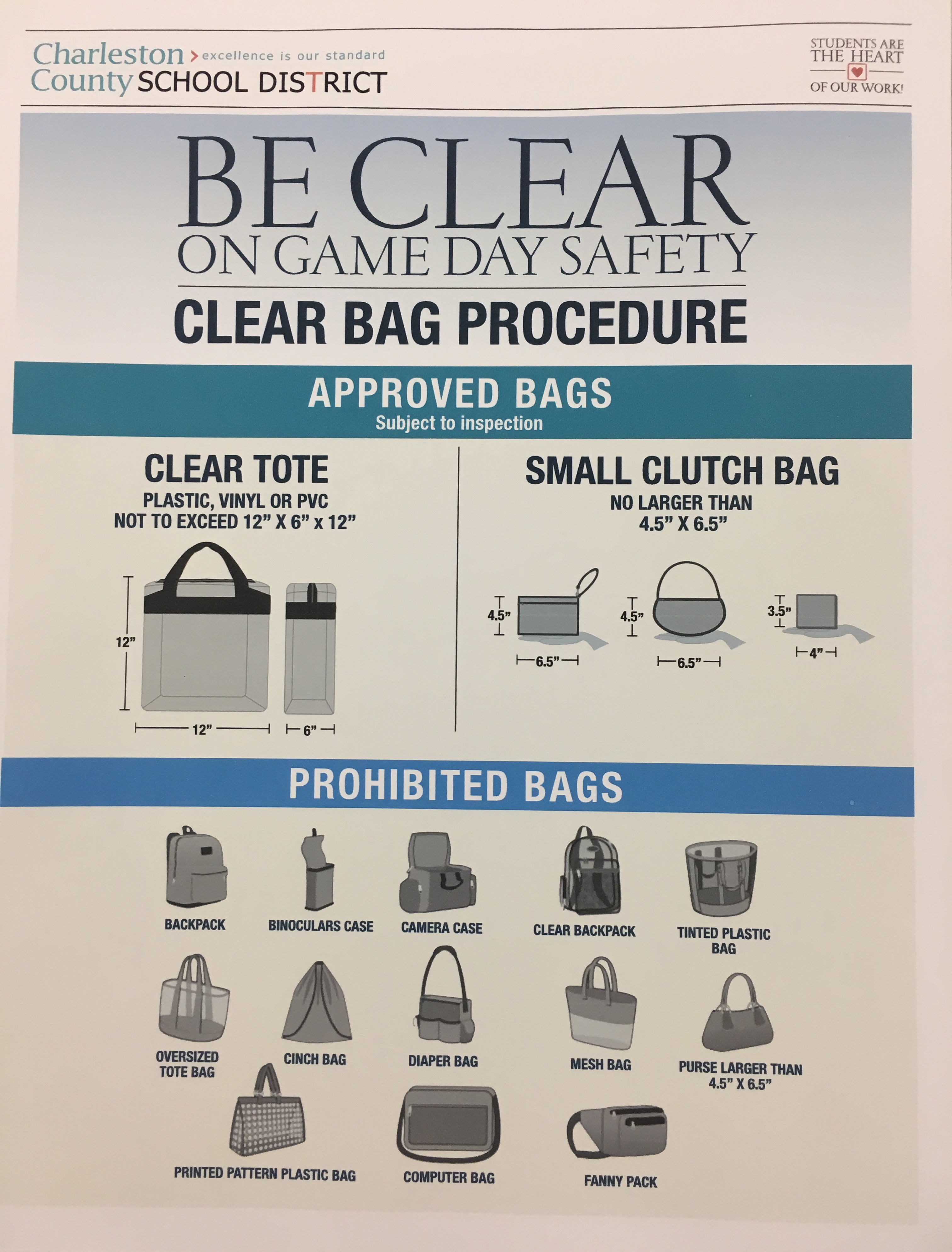 Clear Bag Procedure at Wando Stadium