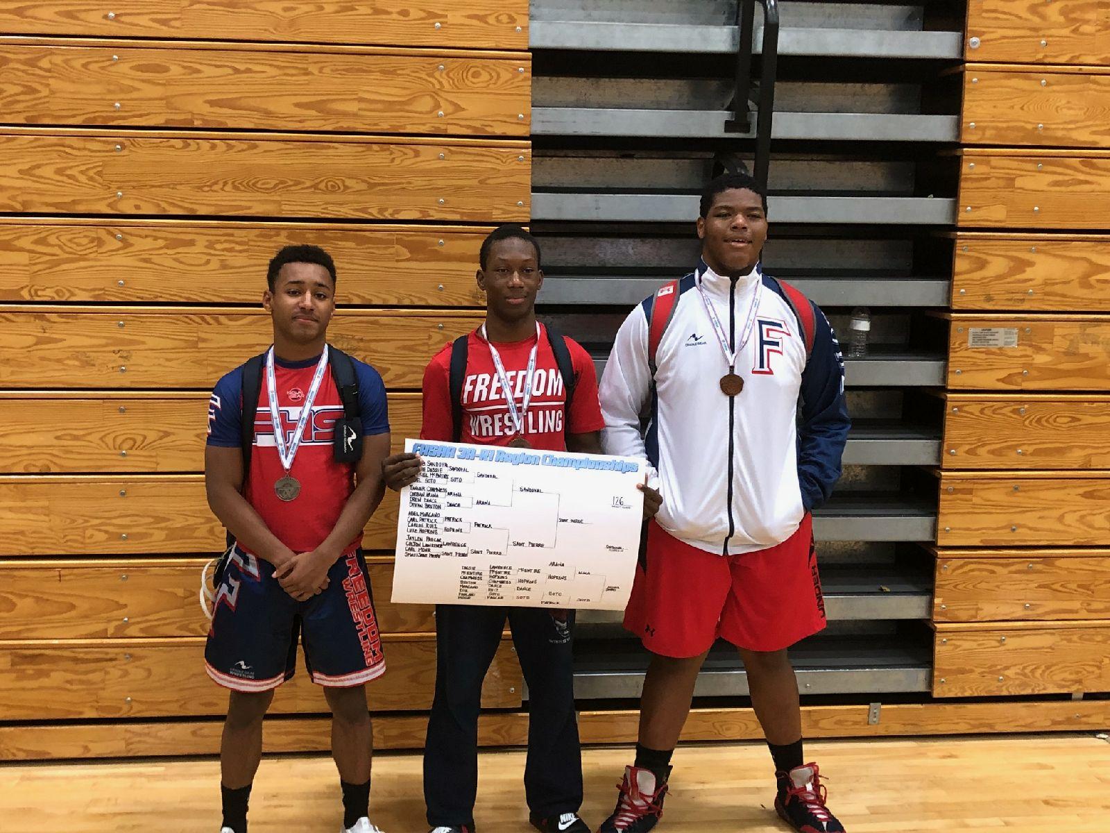Boys Wrestling-3 athletes qualify for states!!!!