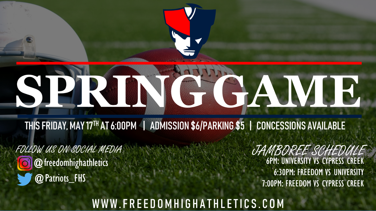Spring Football Game – This Friday Night