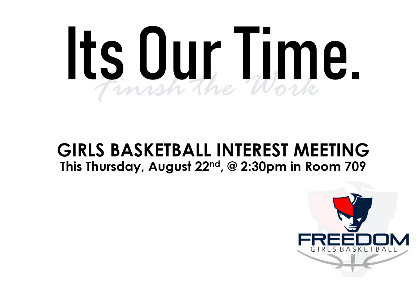 Girls Basketball Interest Meeting – This Thursday at 2:30pm