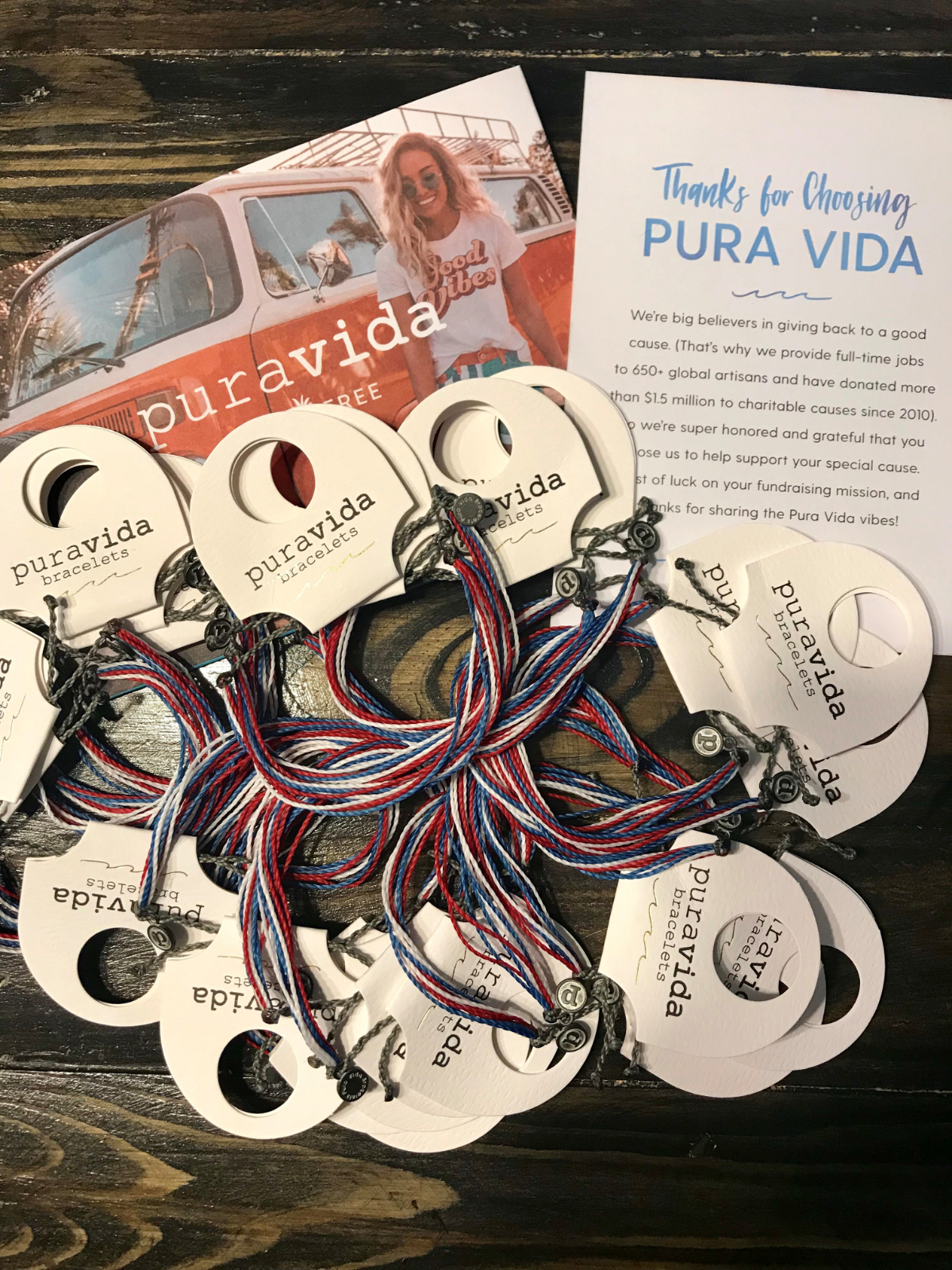 Support Freedom Swimming and Diving – Purchase your 'Pura Vida' bracelets today!