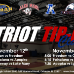 Girls Basketball Patriot Tip-Off Classic – November 12th and 14th