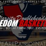TOMORROW NIGHT Freedom Basketball Varsity Doubleheader – Girls at 6pm, Boys at 7:30pm