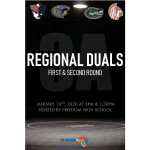 Freedom Wrestling Hosts FHSAA Regional Duals Round 1 & 2 Tonight