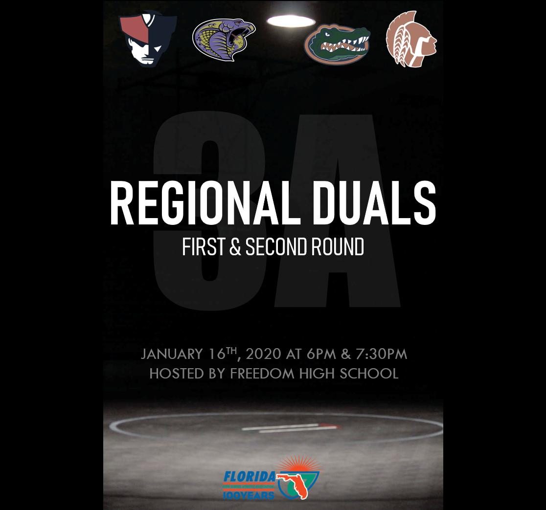 Freedom Wrestling Hosts FHSAA Regional Duals Round 1 & 2 Tonight