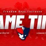 2020 Freedom Lacrosse Season Begins This Week