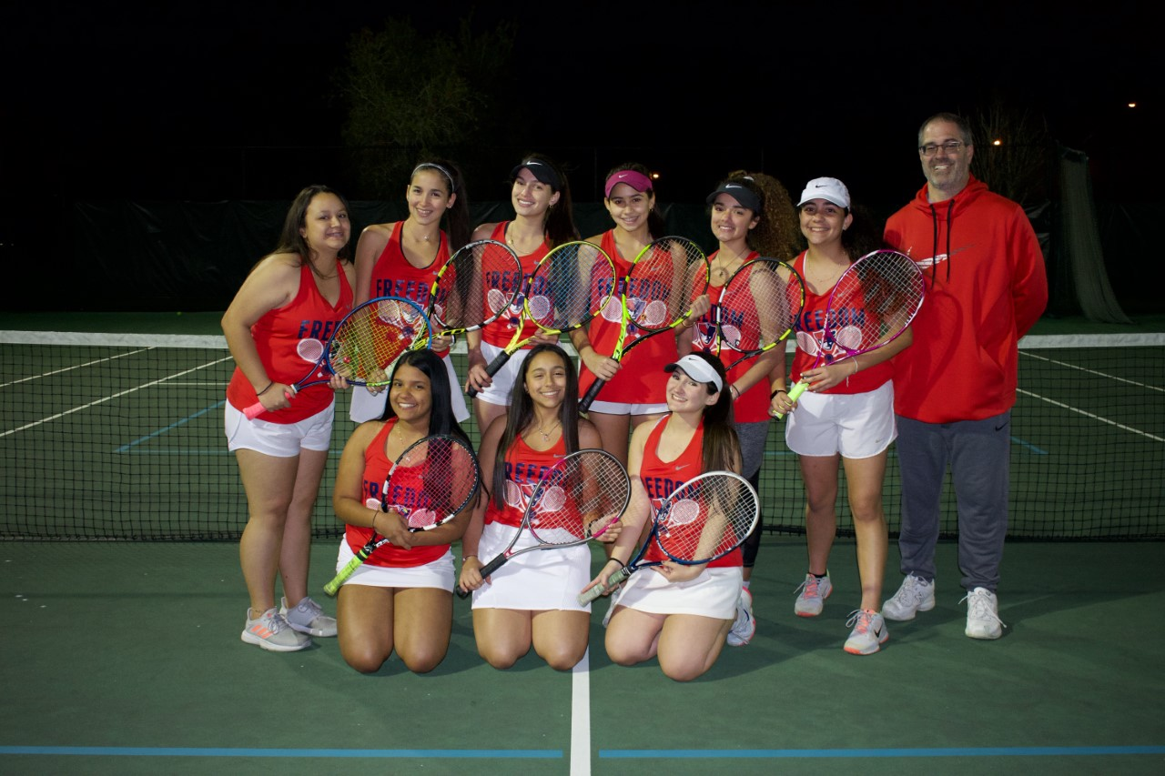 Girls Tennis Bounces Back in Rout of East River