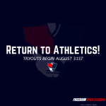 Return to Athletics – Fall Sports Begin August 31st