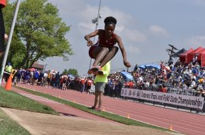 Photo Gallery: Sierra's Alexandria Burns Wins Gold at State Track in the 3A Triple Jump