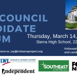 City Council Candidate Forum Hosted at Sierra High School