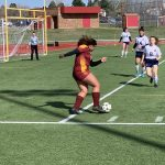 Girls Varsity Soccer beats Mitchell 2 – 1