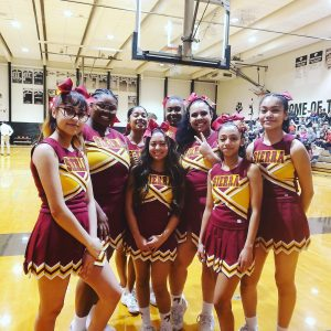 Photo Gallery: Cheer team at Boys Basketball 2nd Round Playoff Game