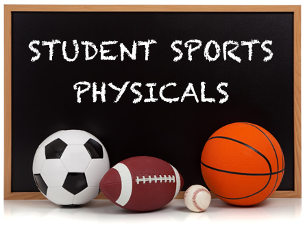 Sports Physicals August 1st and August 8th