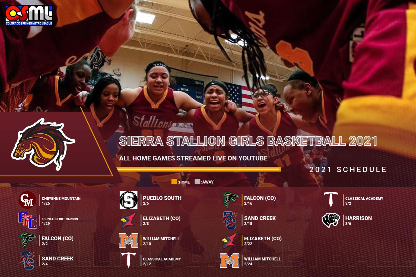 2021 Sierra Girls Basketball Schedule