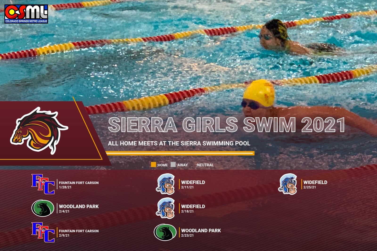 2021 Sierra Girls Swim Schedule