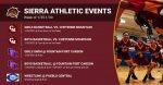 Sierra Athletic Events Week of 1/25/2021