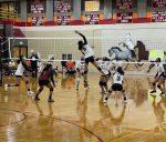 Girls Varsity Volleyball beats Mitchell 3 – 0