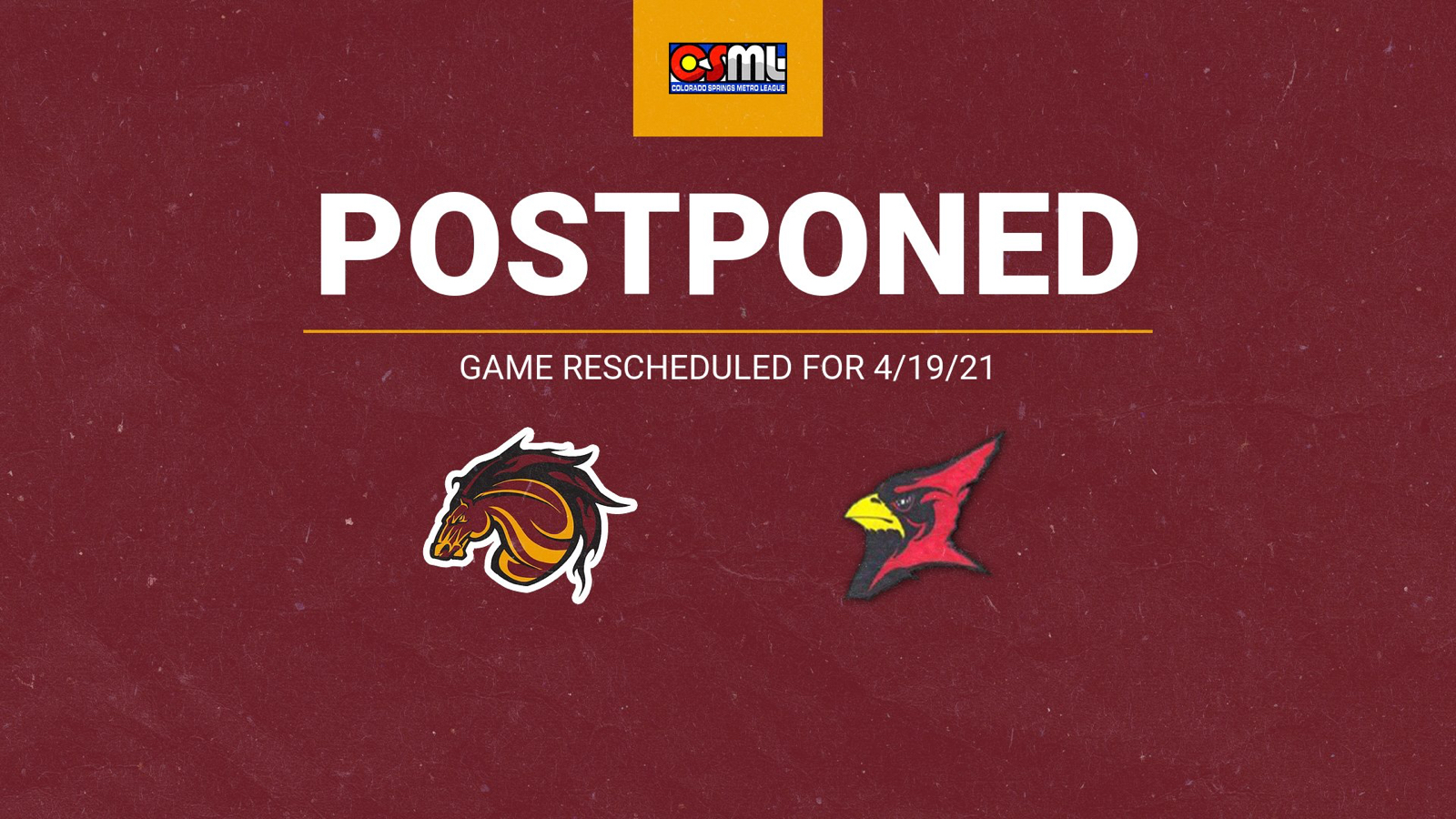 Boys Soccer vs. Elizabeth Postponed Due to Weather/Field Conditions