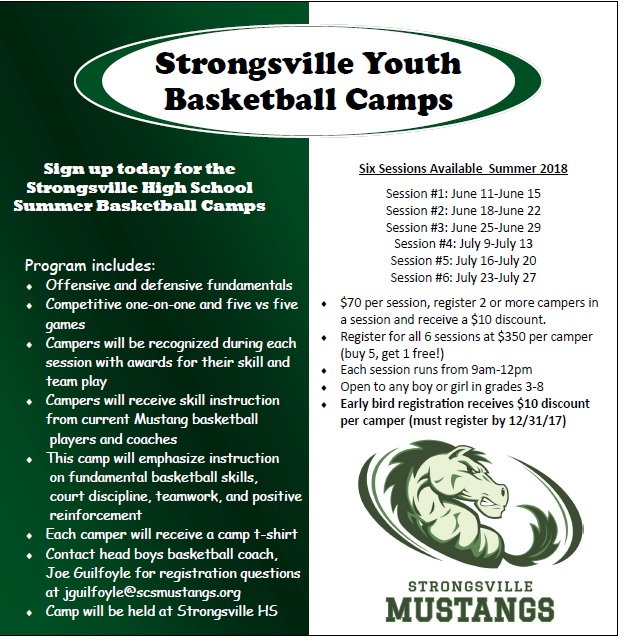 Strongsville Youth Basketball Summer Camps