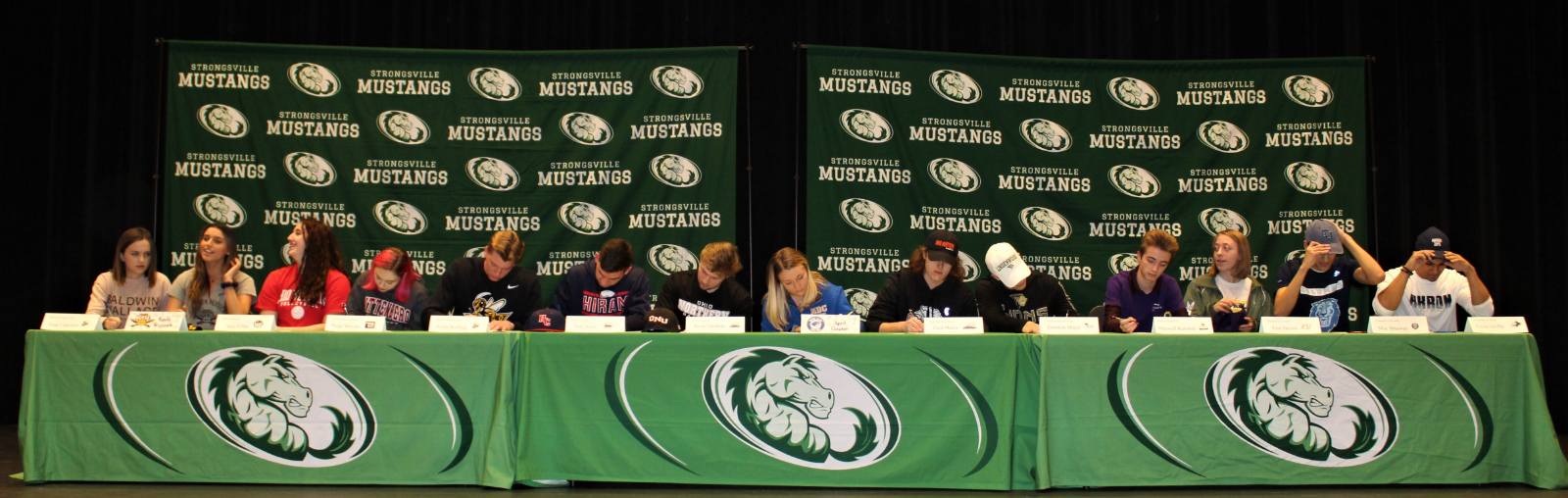 14 Athletes sign letters of intent at ceremony