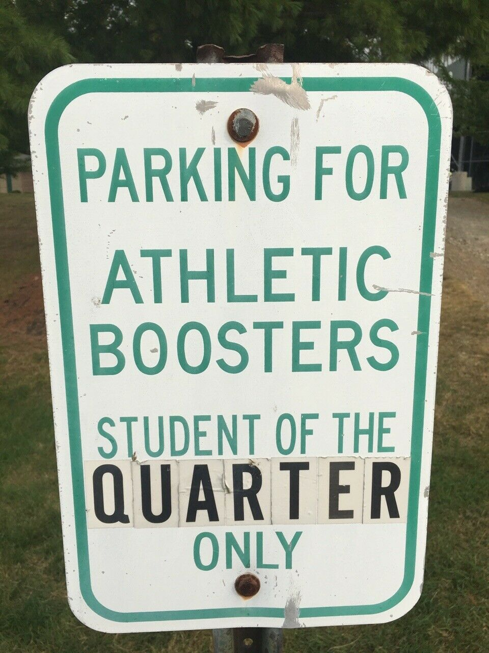 Athletic Boosters Parking Spot